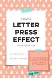 Illustrator Shortcuts  how to create a letterpress effect in Adobe Illustrator