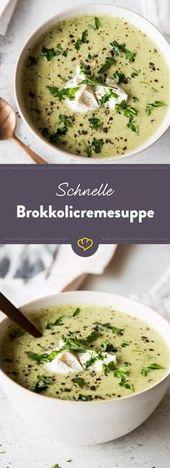 Schnell und gesund: Vegetarische Brokkolicremesuppe   – 06 soup