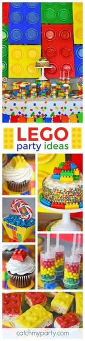 Was für eine fantastische, farbenfrohe Lego-Geburtstagsfeier! Die Cupcakes sind so in Scheiben geschnitten …   – Cupcakes