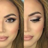 16 idées maquillage de mariage pour les mariées  #idees #maquillage #mariage #mariees