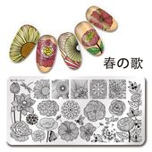 1Pc Nail Art Stamping Plate Line Flower Theme  Template Harunouta L034  | eBay