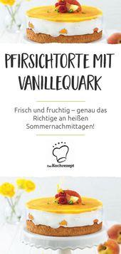 Wie herrlich frisch und fruchtig! Dieser Pfirsichkuchen ist genau das Richtige …   – Sommer-Rezepte