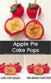 Apple Pie Cake Pops Rezept und Tutorial – Eine lustige Idee für gefüllte Kuchen … – Yummy Kuchen