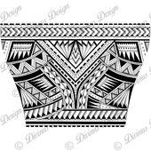 Wrap Around Arm polynesischen Tattoo für Männer und Schablone – Instant Digital Download