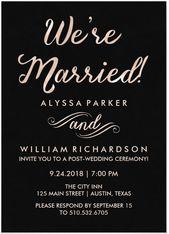 21 Schöne Hochzeitseinladungen für zu Hause Planen Sie eine Hochzeit …   – wedding