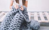 """So """"stricken"""" Sie eine Decke in nur 45 Minuten!   – Handwerk"""