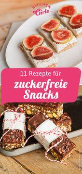 11 Rezepte für zuckerfreie Snacks   – Essen und Trinken