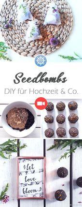 Seedbombs sont d'excellents Cadeaux pour invités de Mariage ou Cadeau parfait e…