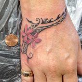 Plumeria Tribal Tattoo … Ich denke, das ist mein nächstes Tattoo! #polynesische # Tätowierung