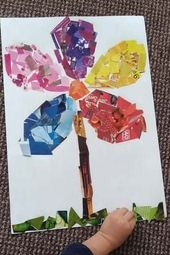 Spring Flower Art Collage