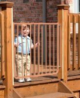 Cardinal Gates Outdoor Child Safety Gate Brown