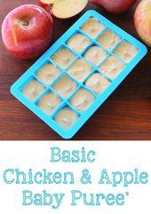 Basic Chicken & Apple Babynahrung   – Baby Food Basics