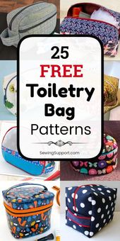 Pocket pattern for sewing. 25 free toiletry patterns, DIY projects and sewing instructions   – Utensilos