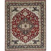 Bokara Rug Co., Inc. Einzigartiger handgeknüpfter Teppich aus Wolle in Rot / Blau