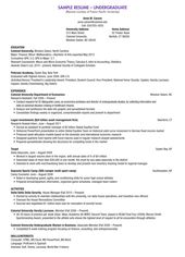 College Scholarship Resume Template Free Resume Templates Student Resume Template College Resume Resume Examples