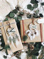 Winter Cabin Dream Catcher Christbaumschmuck (2er-Set) – Macrame Ornaments – Geschenk für Frauen – Nordic Weihnachtsschmuck – Boho Holiday