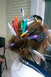 Ideen für Crazy Hair Day in der Schule für Mädchen und Jungen | Bleib zu Hause Mama  – Girlie stuff