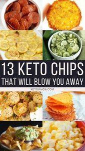 Imbiss ohne Schuldgefühle mit 13 der besten Ketochips, die Sie zu Hause herstellen können! Mit…