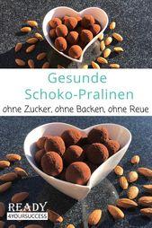 Gesunde Schoko-Pralinen