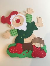 Window Picture Clay Board Dwarf Autumn Halloween Decoration FOR SALE • EUR 7.99 …