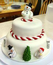 25 ideas simples de pastel de Navidad   – Torten