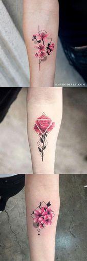 30 zarte Blumen-Tattoo-Ideen – MyBodiArt – Tägliches Pin Blog