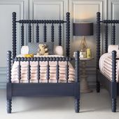 "The Beautiful Bed Company on Instagram: ""The Harriett Spindle Bed in a charming navy finish"""