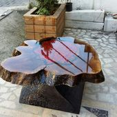 20+ Extraordinary Blue Dining Table Ideas Of Resin Raw Materials