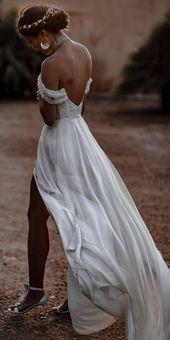 Charming Long Sleeve Backless Einfache Brautkleider, FC1994