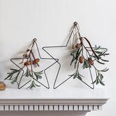 Photo of Set mit 2 Eukalyptusdraht Sterne Weihnachtsdekoration