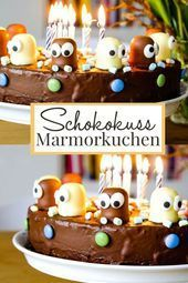 Www799496 Schokokusskuchen Marmorkuchen Mit Schokokussen Und Augen Funny Eye Catcher And Delicious A In 2020 Marble Cake Kisses Chocolate Chocolate Decorations