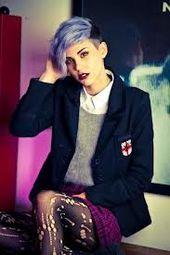 #hair #cool #uniform #purple #coolhair