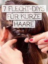 Trança de cabelo curto: penteados com instruções   – прически