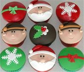 fondant cupcakes navideños – Búsqueda de Google   – Christmas