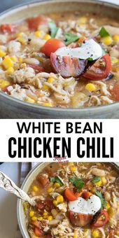 Spicy White Bean Chicken Chili – Soup