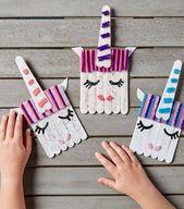 40 Kreatives Eis am Stiel Basteln für Kinder