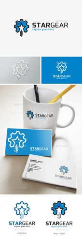 Star Gear Logo by dreamstudio29 This logo is great for technology, office, sport, game, lab, service, studio, develop, store, agent, mechanic, enginee…