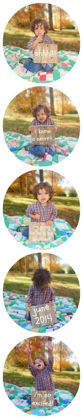 """Oh Boy, Cato!: """"I'm Going to be a Big Brother"""" An Announcement  – Picture Stuff"""