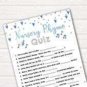 Baby Shower Songs Blue Nursery Rhyme Game, Baby Song Games, Guess the Nursery Rhyme, Nursery Rhyme Game, Blue Baby Sho
