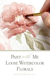 Watercolor Tutorial: How to paint flowers with watercolor! Come behind  the scen… – Aquarell malen