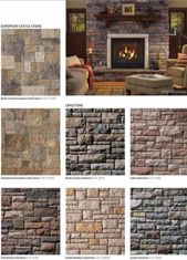 Wood burning stove backsplash stone walls 53 Ideas