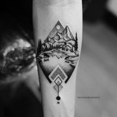 New tattoo mountain forest art prints Ideas