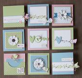 Baby Cards Mir war nach Pastellfarben. Und eigentlich sollte es was Schnelles für zwischen...