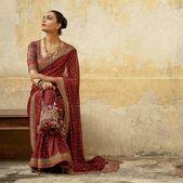 Designer maroon Colore saree occasion put on saree Indian Ladies Saree Bollywood Model saree stunning wor…
