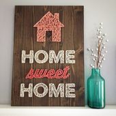 MADE TO ORDER String Art Home Sweet Home Sign