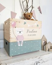 Wooden box toy box – little bear girl, one – storage boxes handicrafts
