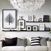 Schaffen Sie visuelles Interesse an Ihrem Zuhause, indem Sie Ihre Lieblingsdrucke auf einer G…