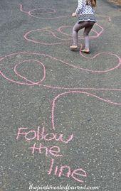 Sidewalk Chalk Games & Activities für Kinder. Spaß im Freien spielen Frühling, Sommer und …   – Kids Crafts