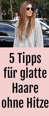 Cabelos lisos sem alisadores: 5 dicas para cabelos mais lisos sem calor   – Haare