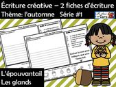 Écriture créative – 2 fiches d'écriture Thème: l'automne Série #1